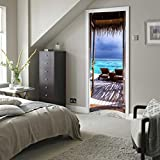 3d arte puerta adhesivo Paisaje, yoyoug 3d Fashion Art Decor Adhesivo para pared ventana puerta extraíble de adhesivo mural Póster de escena, pvc, G, talla única