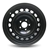 Road Ready Car Wheel For 2005-2011 Chevy HHR 2004-2008 Chevy Malibu 16 Inch 5 Lug Black Steel Rim Fits R16 Tire - Exact OEM Replacement - Full-Size Spare
