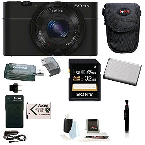 Sony Cyber-Shot DSC-RX100 Digital Camera with Battery and 32GB SD Card Bundle