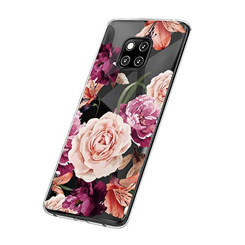 Huawei Mate 20 Pro Hülle,Huawei Mate 20 Case TPU Transparent Silikon Flexibel Ultra dünn Weicher Bumper Anti-Scratch Case für Mate 20 Lite Hülle (Huawei Mate 20 Lite, 9)