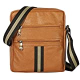 TULMAN PU Leather Sling Bag Travel Crossbody Messenger Bag for Men & Women