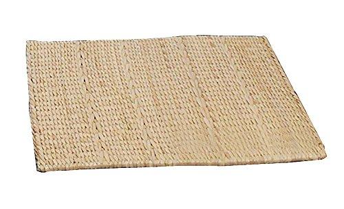 Black Temptation Natürliche Handmade Stroh Matte Fußboden Mats Square Stuhl Kissen, 41 * 43 cm