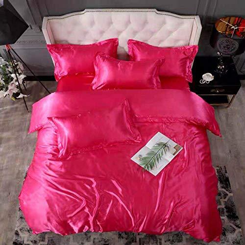Bedding-LZ -Verano Hielo Seda de Cuatro Piezas 1,8 m de Cama Simple Hielo Fresco Seda simulación de Seda Estudiante Dormitorio Familia Familia Regalo Regalo-S_Cama de 2.0m (4 Piezas)