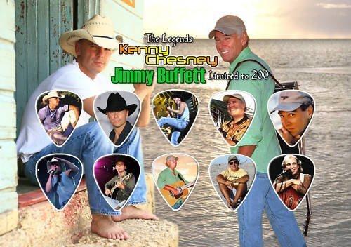 Kenny Chesney & Jimmy Buffett Púa Para Guitarra Display Limited 100 Only