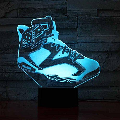 Sanzangtang Led-nachtlampje, 3D-visionzeven, kleuren-afstandsbediening, tafellamp, nachtlampje, kinderverjaardagscadeau, slaapverlichting, huishoudtextiel, kleurverandering, sneaker, schoen, lichtwieglied, nachtlampje