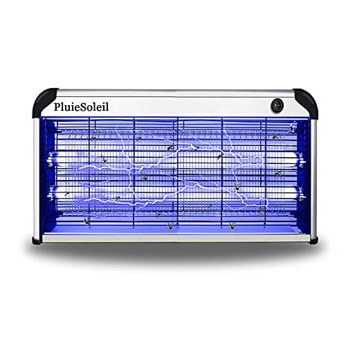 PluieSoleil 30W Lampada Zanzare Elettrico,Lampada Antizanzare e Cattura Insetti Elettrica da Interno,Zanzariera Elettrica Atossica e Sicura