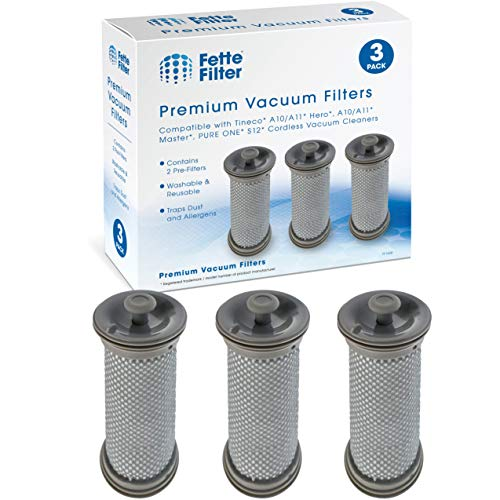 Fette Filter - Premium Vacuum Pre Filter Set Compatible with Tineco A10/A11 Hero A10/A11 Master Tineco Pure ONE S12 Cordless Vacuums - Pack of 3