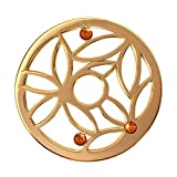 Nikki Lissoni Magic Bamboo Medium Gold Plated Coin C1095GM