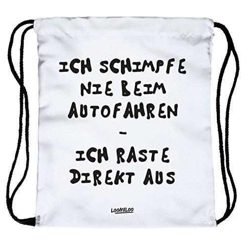 Ich teile null - Beutel Turnbeutel Loomiloo Tasche Sportbeutel Quote Statement Slogan...