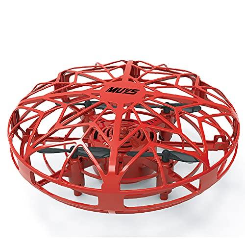 XER Flynova Mini Drone para Niños UFO Drone Flying Toy RC Flying Ball, Rotación Acrobática De 360 Grados Luces LED para Volar para Niños, Niñas, Adultos, Oficina, Hogar, Descompresión, Buen Regalo