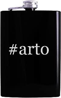 #arto - 8oz Hashtag Hip Alcohol Drinking Flask, Black