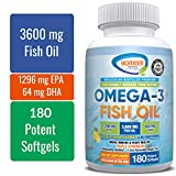 orker Health's Premium Molecularly Distilled Omega-3 Fish Oil Softgels | Triple Strength 3600 mg | Brain, Immune and Heart Health