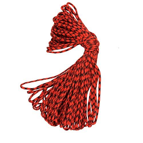 Qinghengyong 100m 5mm 7adrig Camping-Zelt Fix Weaving Schnur 7adrig Außen Rettungsleine Bindung Regenschirm Seil Bred Cord Outdoorlifeline