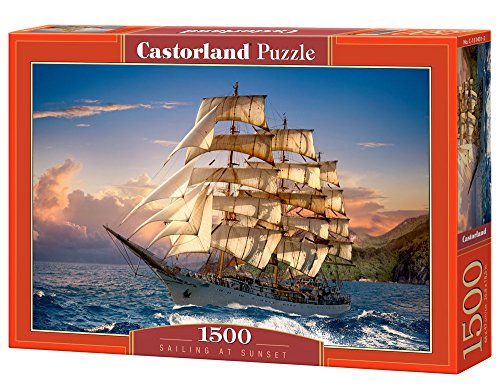 Castorland Hobby Panoramic Sailing At Sunset Jigsaw Puzzle, 1500 pezzi, Multicolore, C-151431-2