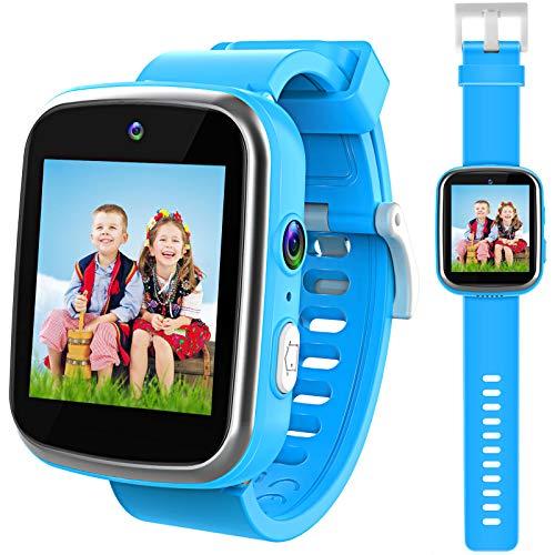 Kinder Smartwatch, Uhr Dual Kameras Armbanduhren für Jungen, Kleinkind Uhr Weihnachten Geburtstag Geschenk für 3-12 Jahre alte Kinder - Blau