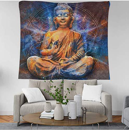Color Buda Cabeza Totem Tapiz Hippie Mandala Colgante de pared Colcha Decoración del dormitorio Tapiz 150 * 200Cm