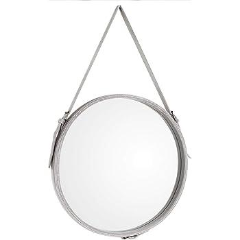 Couleur : Blanc, taille : 38cm jingzi Miroir de maquillage Tenture murale miroir de salle de bain miroir Tenture murale salle de bain miroir rond d/écoration murale miroir