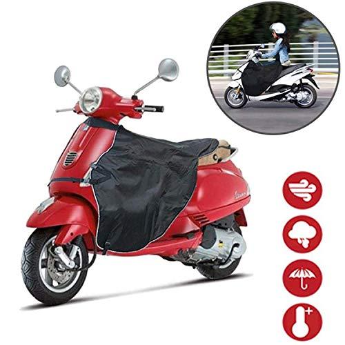 Queta Beinschutz Motorroller Roller Regenschutz Wetterschutz Motorradabdeckung Universal Motorradplane Schützt vor Wind, Regen und Kälte