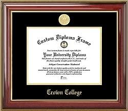 Laminated Visuals Crown College Storm - Gold Medallion - Mahogany Gold Trim - Diploma Frame