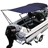 Oceansouth Bimini Extension Airflow Boat Shades (Blue, Length 67' x Width 67')