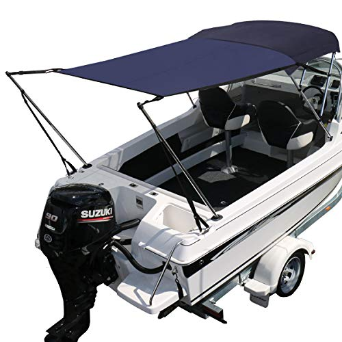 Oceansouth Bimini Extension Airflow Boat Shades (Blue, Length 67' x Width 82')