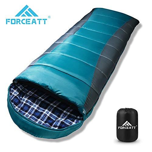Forceatt Sac de Couchage pour Camping, Température de Confort 0-15°C, Randonnée et Activités...
