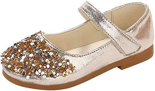 Heißer Kinder Kleinkind Schuhe Infant Baby Mädchen Kristall Leder Einzelne Schuhe Party Prinzessin Schuhe Single Casual Sneaker Silber Gold Rosa 21EU-30 EU