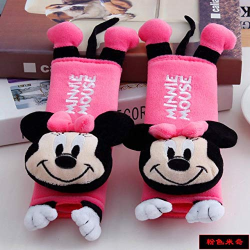Weichuang Sleeping Pillows 2 Pcs/Set Disney Mickey Mouse Stitch Car Seat Belt Pads Harness Safety Shoulder Strap BackPack Cushion pillow For adult Kids Pillows (Color : Minnie, Size : 20x60cm)
