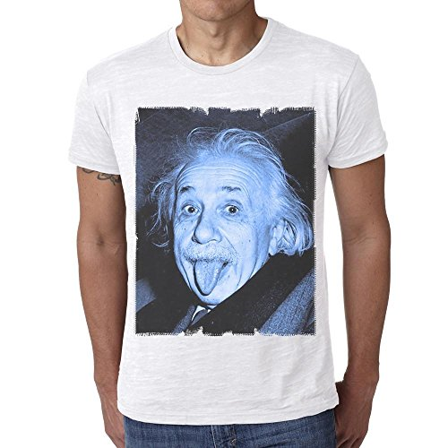 One in the City Albert Einstein Blue: Men's T-Shirt Celebrity Star
