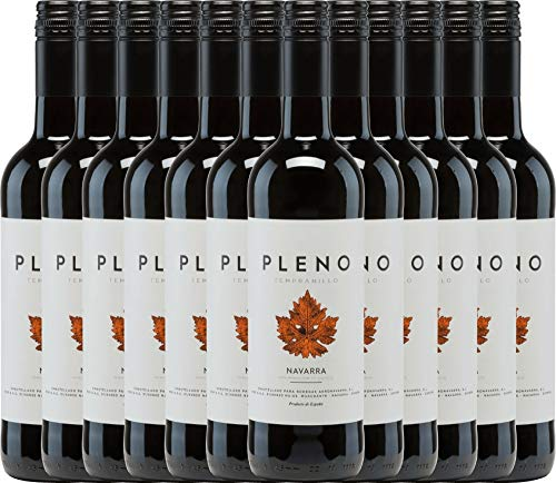 12er Paket - Pleno Tempranillo Tinto DO 2018 - Bodegas Agronavarra | trockener Rotwein | spanischer Wein aus Aragonien | 12 x 0,75 Liter