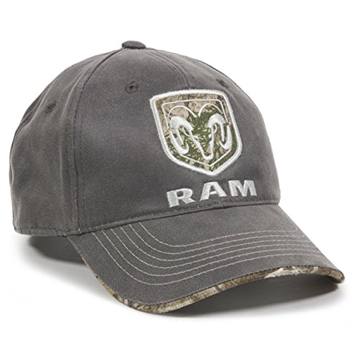 Outdoor Cap Dodge Ram Realtree Visor Edge Charcoal Camo Hunting Outdoor Hat