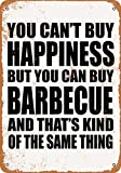 Wall-Color 9 x 12 Metal Sign - You Can't Buy Happiness But You Can Buy Barbecue - Vintage Look