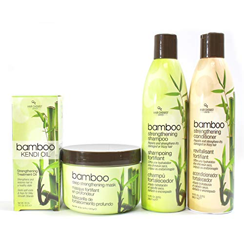 Hair Chemist Bamboo Strengthening Deluxe Hair Care Collection - 4 Piece Set by Hair Chemist
