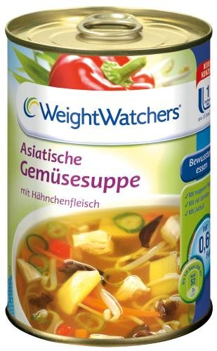 Weight Watchers Asiatische Gemüsesuppe, 6er Pack (6 x 400 ml Dose)