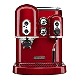 KitchenAid KES2102CA Pro Line Series Espresso Maker with Dual Independent Boilers, Candy Apple Red