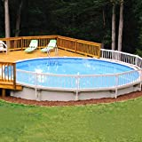 SunnyRoyal 24' x 60' Above Ground Swimming Pool Deck Fence Panel Screen Level Top Guard Above Swimming Pool Safety Fencing Products, White, 3 Pieces Section B