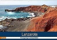 Lanzarote - Einzigartige Landschaften (Wandkalender 2022 DIN A2 quer): Von Vulkanen gepraegt (Monatskalender, 14 Seiten )