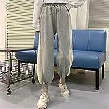 Pantalones Deportivos con Costuras de Cachemira para Mujer Otoño e Invierno con Forro Polar Grueso Cintura Alta Suelta Recta Que Adelgaza Todo a Juego-Gris_Metro