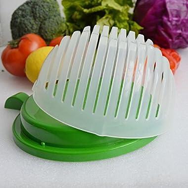 Salad Cutter Bowl, 60 Second Salad Maker Fast Fruit Vegetable Cutter Bowl