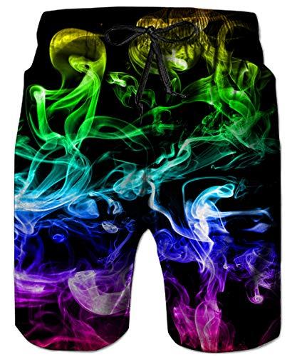 ALISISTER Bañadores de Natación Hombre 3D Impresión Pantalones Cortos Quick Dry Verano Swim Shorts con Forro de Malla S…