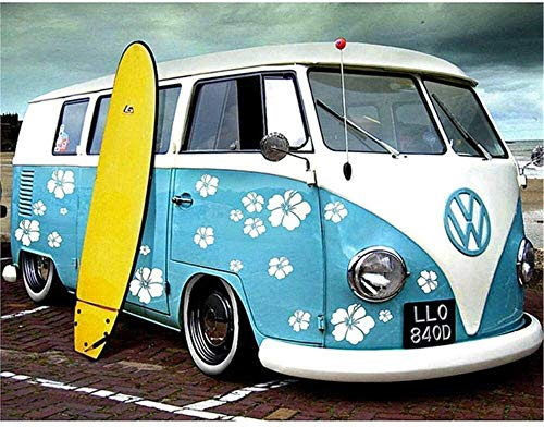 PNFP Holzpuzzles 1000 Adult Holzpuzzle Geschenk DIY Dekoration Puzzle-Spiel Gelegenheits Toy Bus und Skateboard 75 * 50CM