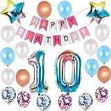 Juego de globos de decoración para 29 cumpleaños con arco iris, para...