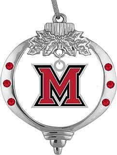 Final Touch Gifts Miami University Oxford Ohio M Logo Christmas Ornament