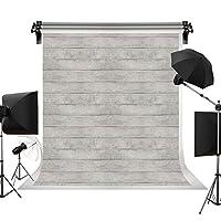 Kackool 5ftx6.5ft 木の背景灰色の木の背景写真スタジオのためのヴィンテージの木製の背景