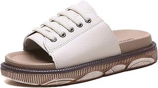 B/H Sandales Bout Ouvert Mixte Adulte,Chaussures de Plage antidérapantes été-crème-Blanc_38,Claquette Homme Sandales Mules