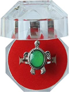 Acchen Mood Ring Sea Turtle Changing Color Emotion Feeling Finger Rings with Box