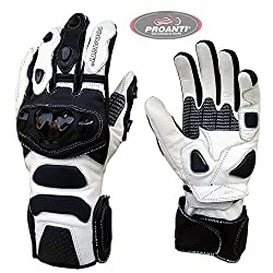 Motorcycle Gloves Profi Racing Motorcycle Leather Gloves by PROANTI - Size L