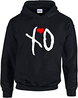 Hoodies For Men XO The Weekend Music Band Designed Pullover Hooded Sweatshirt(Black,Large)