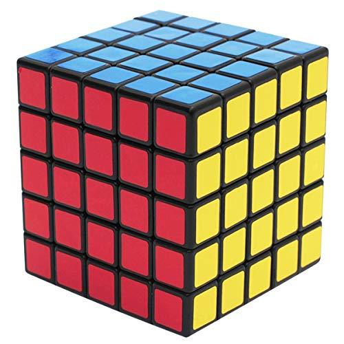 RENFEIYUAN 5x5x5, 5x5 MA con PVC para Adultos y niños, Negro Rubik Cubo