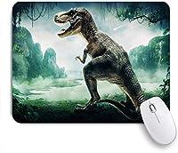 ECOMAOMI 可愛いマウスパッド 恐竜T-レックスジュラシック3D恐竜化石アートデザイン 滑り止めゴムバッキングマウスパッドノートブックコンピュータマウスマット